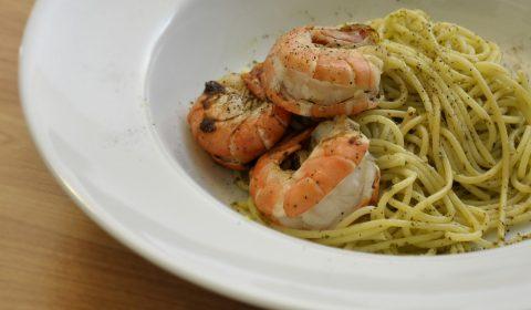 Spaghettio Aglio Olio e Scampi Rezept