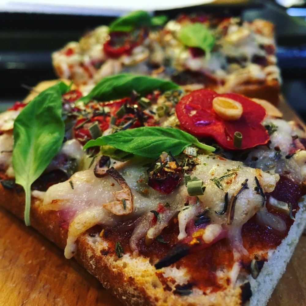 Pizza Baguette Rezept