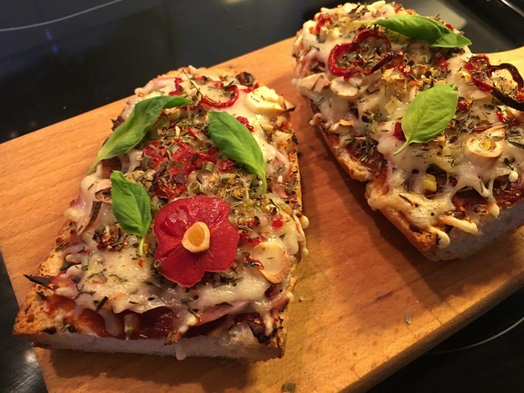 Pizza Baguette selber machen