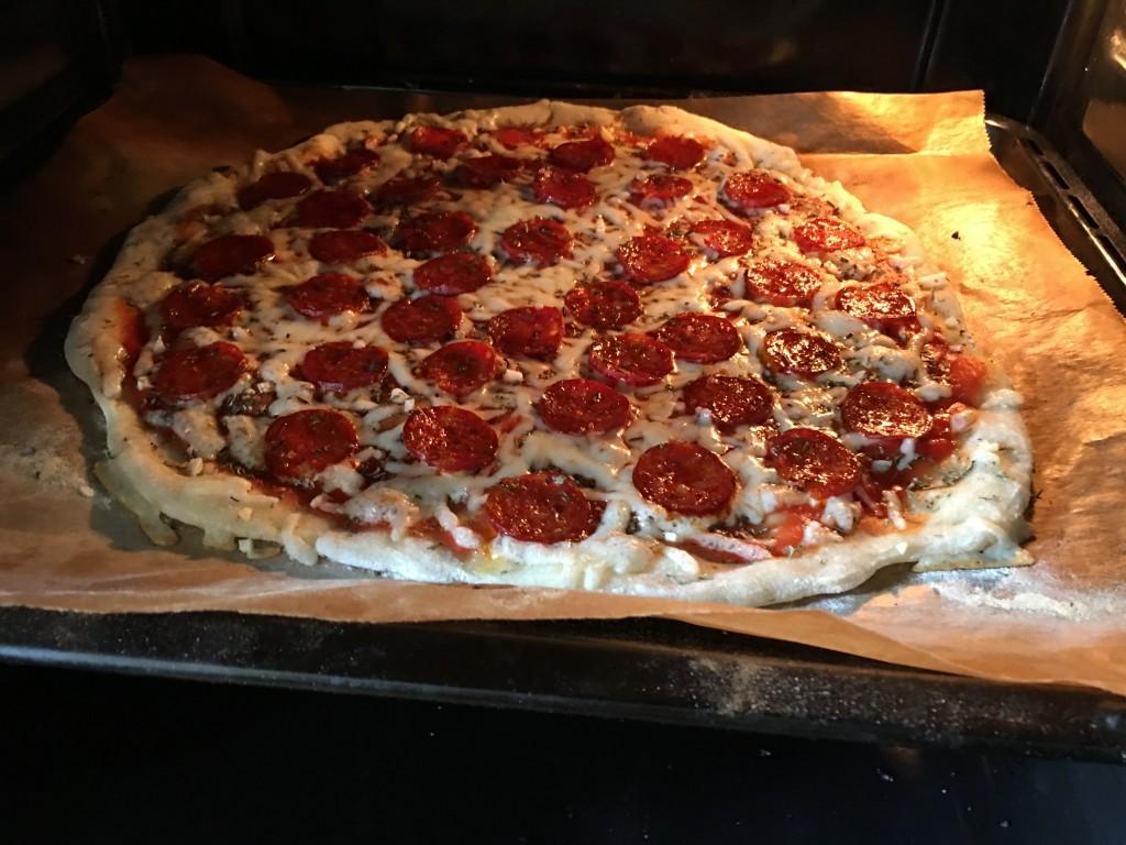 Pizza im Backofen