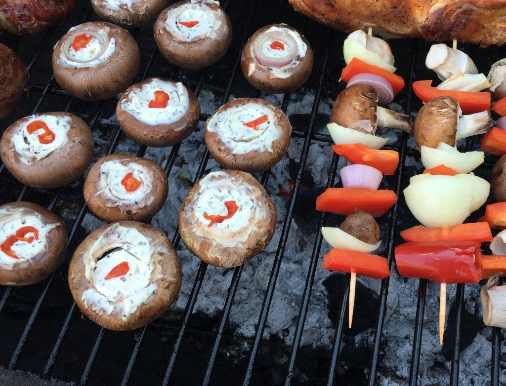 Champignons grillen