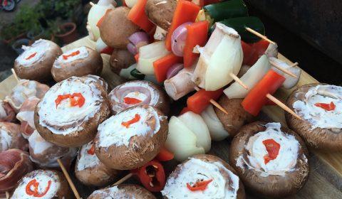Gefüllte Champignons mit Frischkäse und Chili