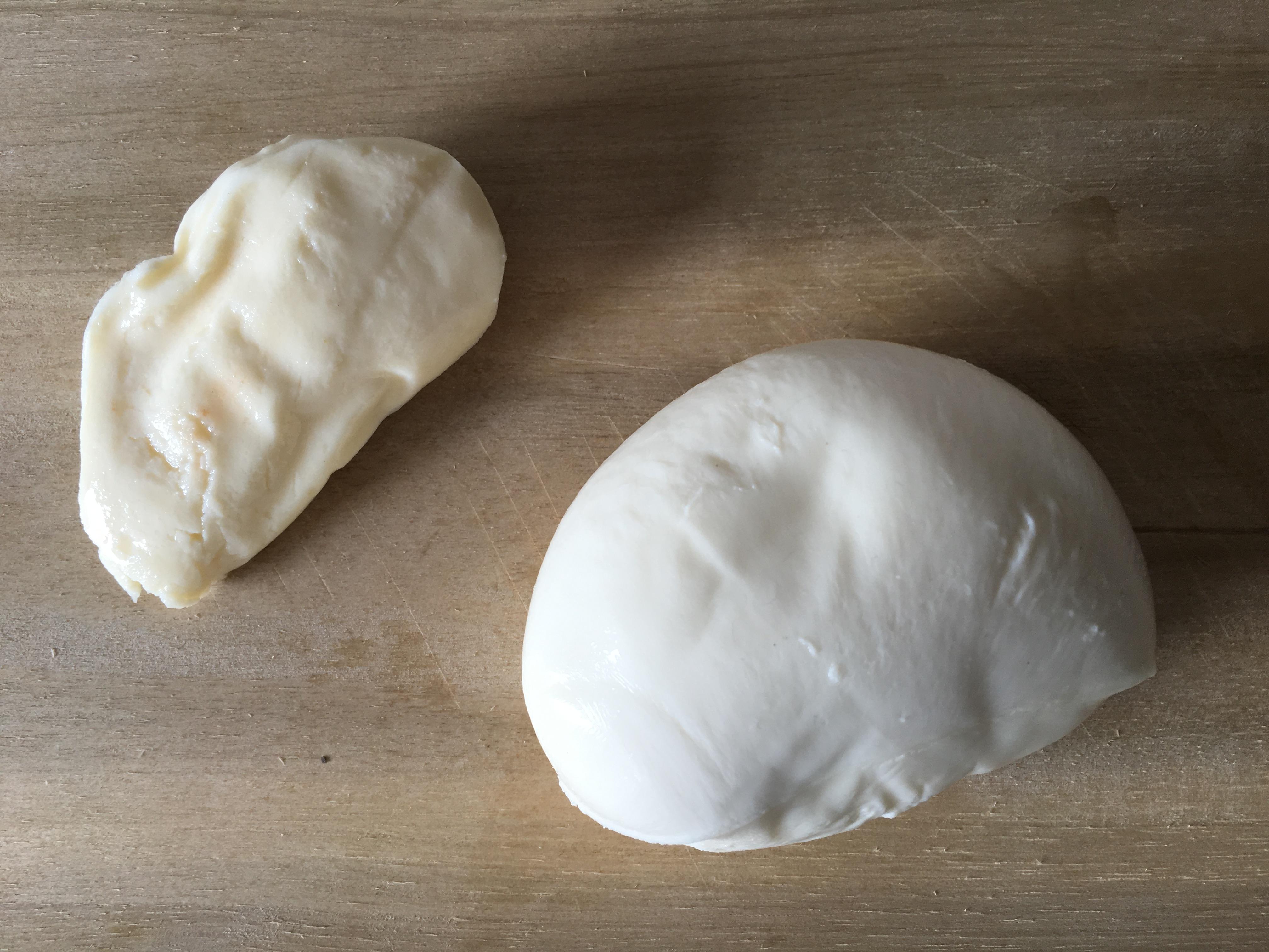Mozzarella und Büffelmozzarella