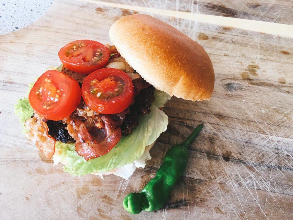 American Bacon Burger Rezept