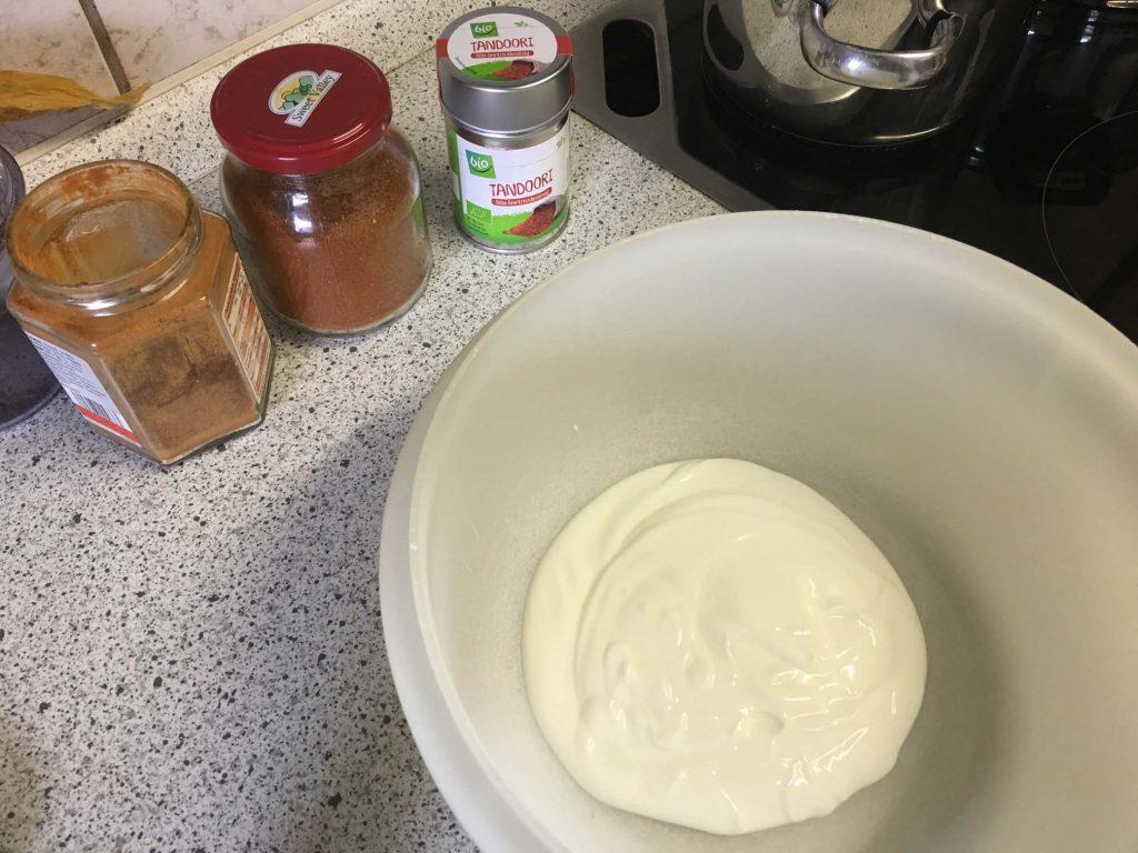 Joghurt für die Marinade