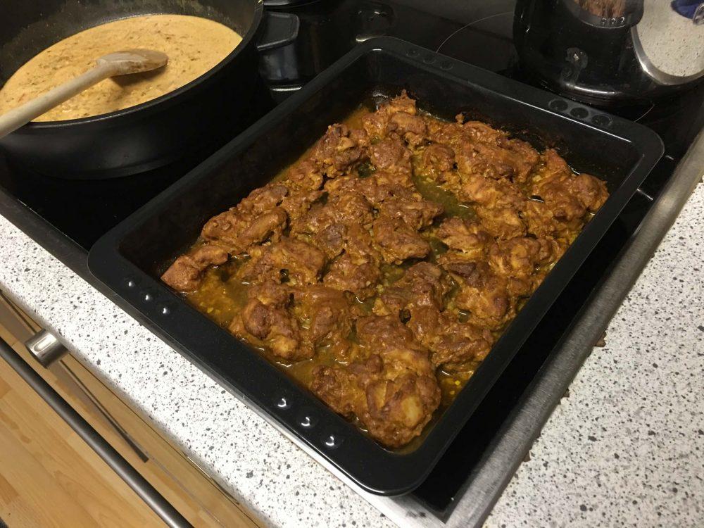 Tandoori Chicken aus dem Backofen