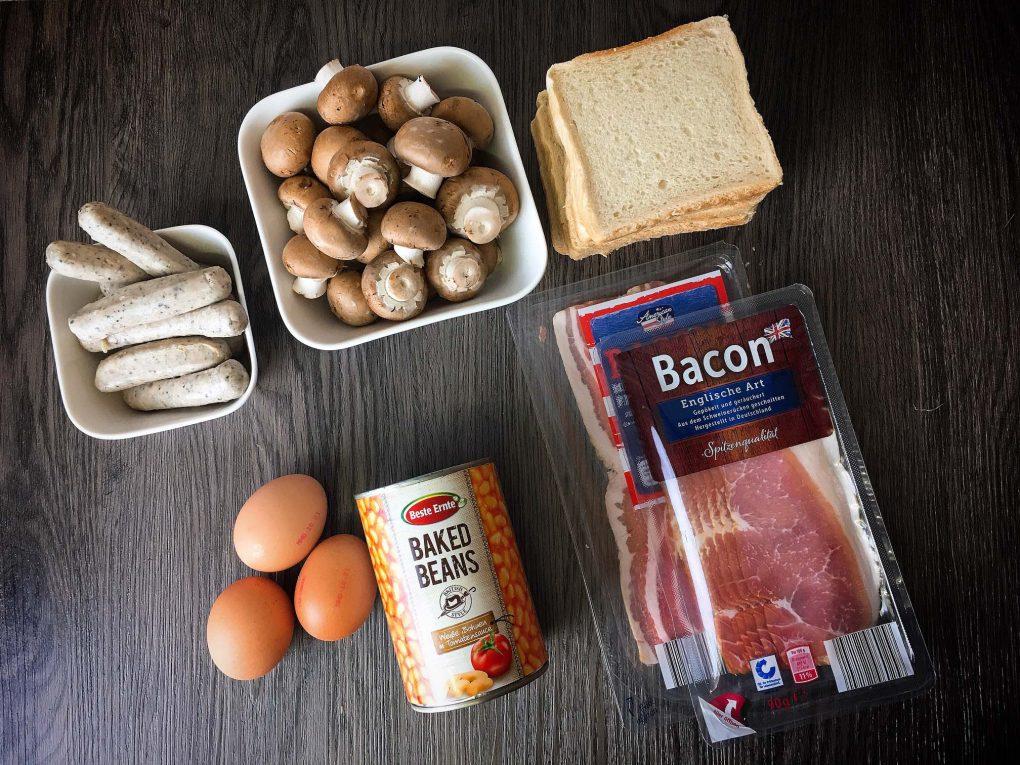Englisches Frühstück Zutaten