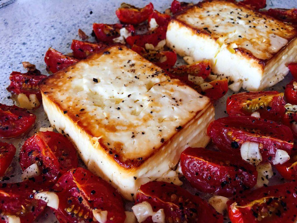 Ofen Feta mit Tomaten