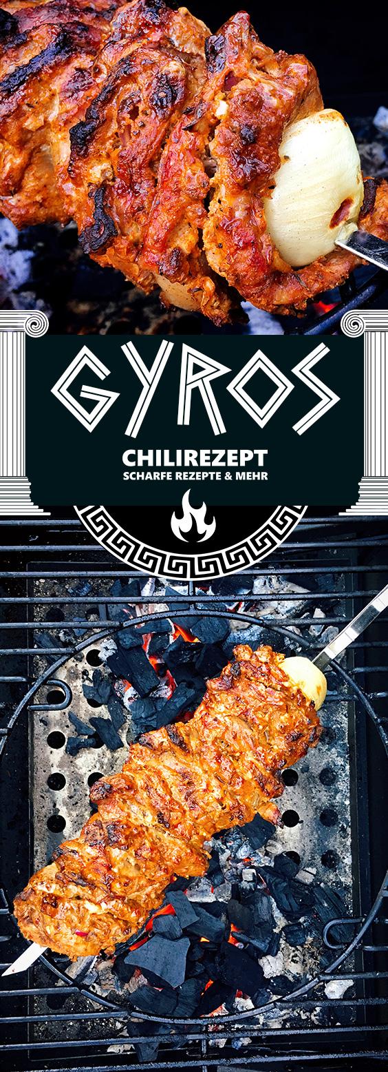 Gyros vom Grill Rezept