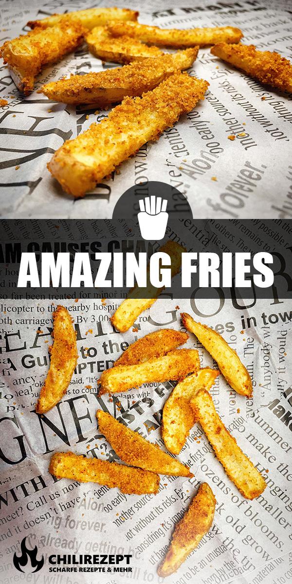Amazing Fries Rezept für Pommes mit Maiskruste