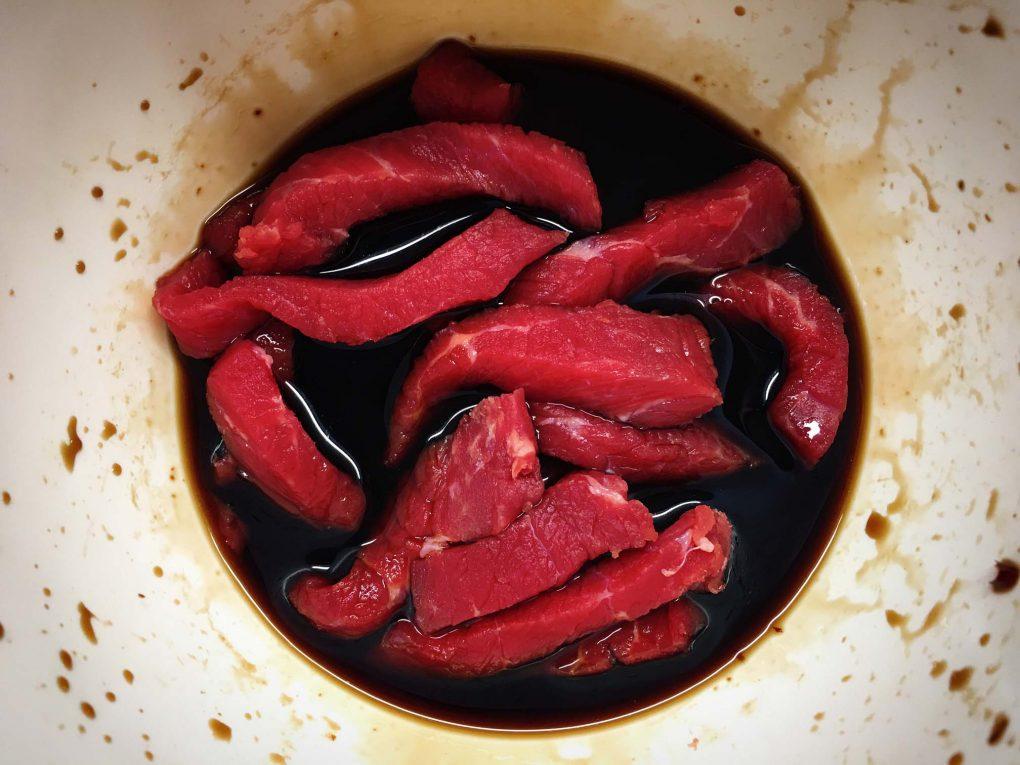 Rindfleisch marinieren
