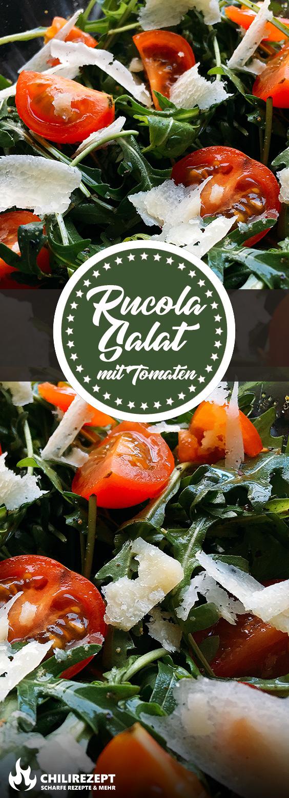 Rucola Salat mit Parmesan und Tomaten Rezept