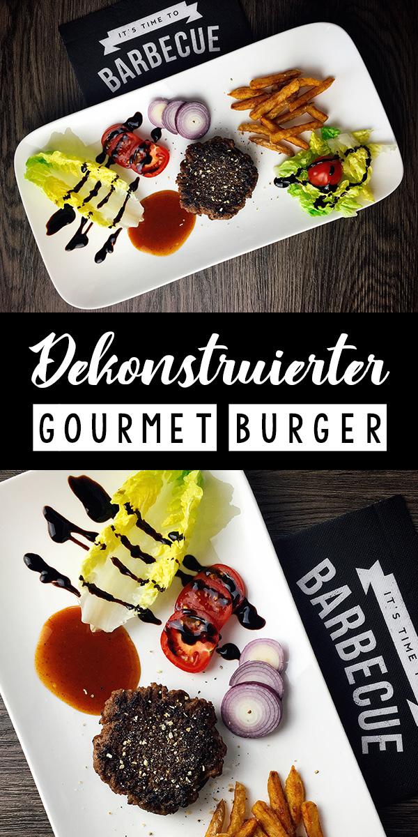 Dekonstruierter Gourmet Burger
