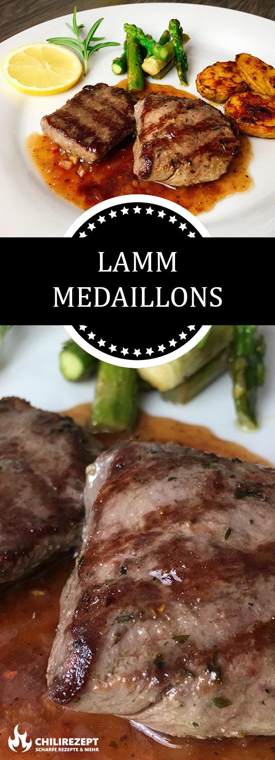 Lamm Medaillons mit Ofenkartoffeln und Grünem Spargel